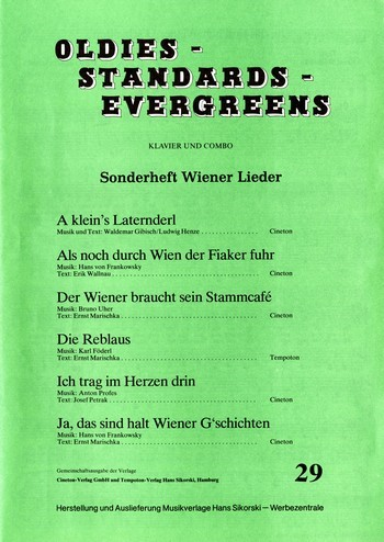 Oldies Standards Evergreens Band 29: für Klavier und Combo