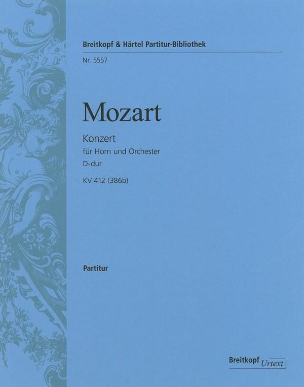 Konzert D-Dur Nr.1 KV412 (KV386b): für Horn und Orchester