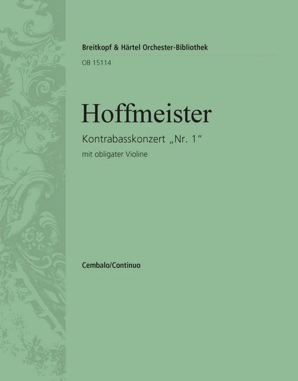 Konzert D-Dur Nr.1: für Kontrabass und Orchester (mit obligater Violine)