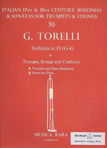 Sonata D-Dur G4: für Trompete, Streicher und Bc