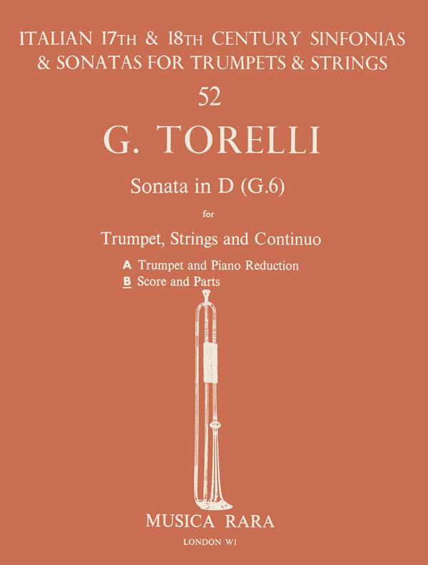 Sonate D-Dur G6: für Trompete, Streicher und Bc