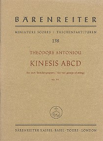 Antoniou, Theodore - Kinesis ABCD op.31 :