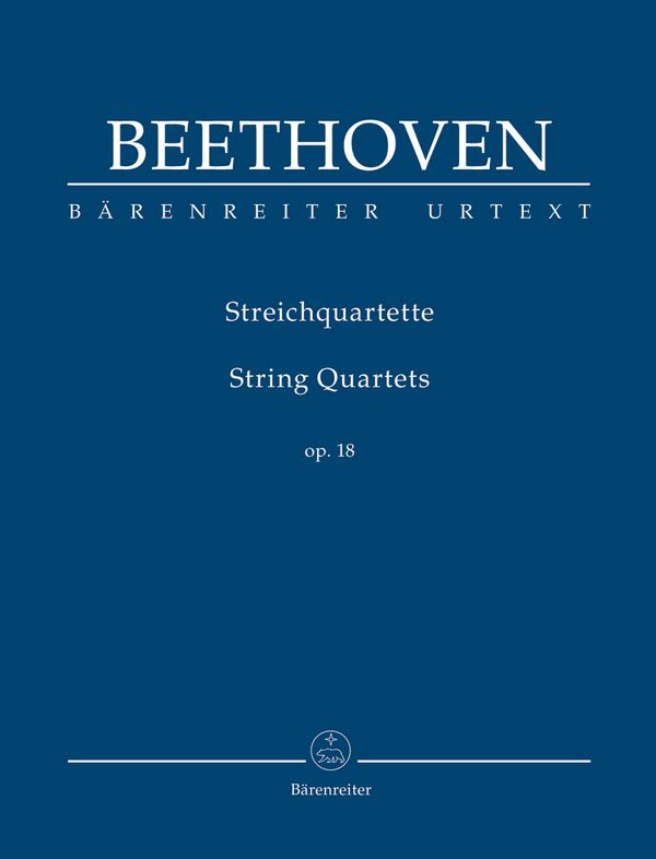 Streichquartette op.18 Studienpartitur