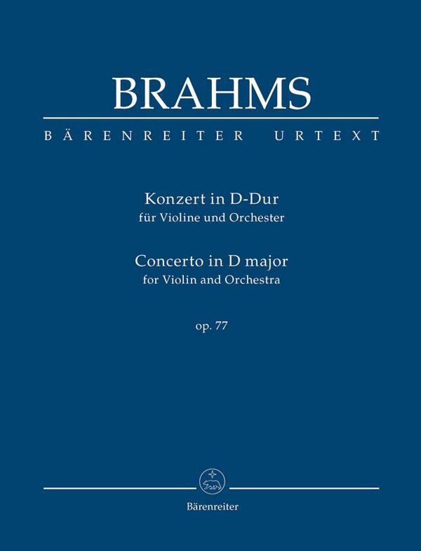 Konzert D-Dur opus.77: für Violine und Orchester Studienpartitur