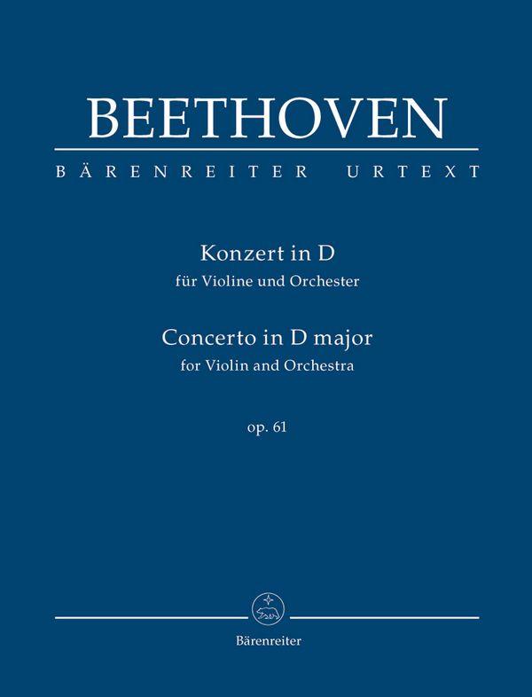 Konzert D-Dur opus.61: für Violine und Orchester Studienpartitur