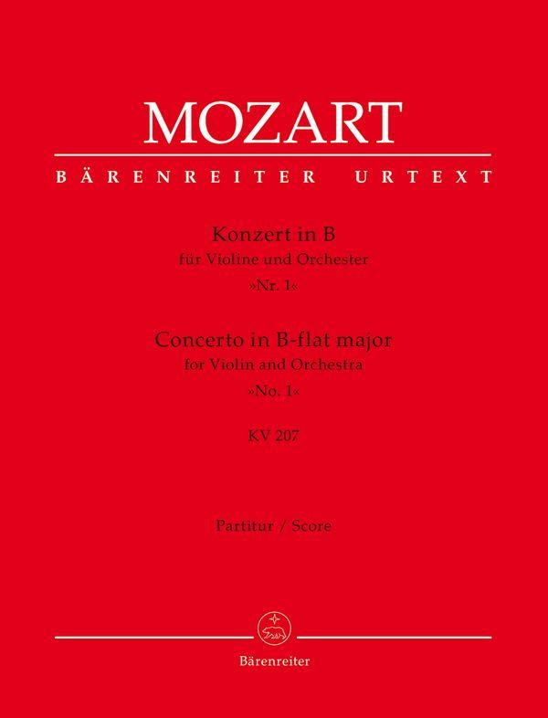 Konzert B-Dur Nr.1 KV207: für Violine und Orchester
