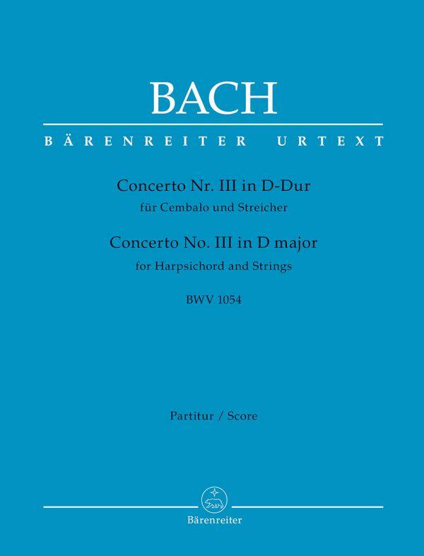 Bach, Johann Sebastian - Konzert D-Dur Nr.3 BWV1054 :