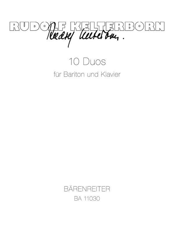 10 Duos: für Bariton und Klavier