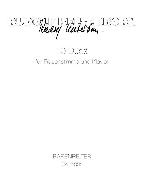 10 Duos: für Frauenstimme und Klavier