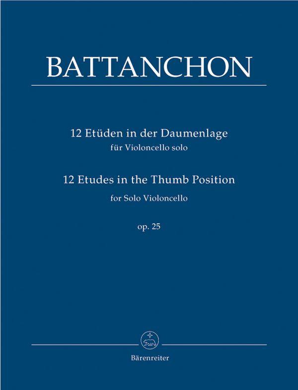 12 Etüden in der Daumenlage opus.25: für Violoncello