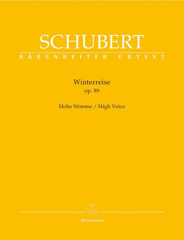 Schubert, Franz - Winterreise op.89 D911 : für Gesang (hoch)