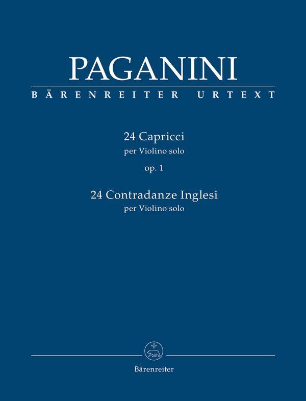 Paganini, Nicolò - 24 Capricci op.1  und  24 Contradanze inglesi :