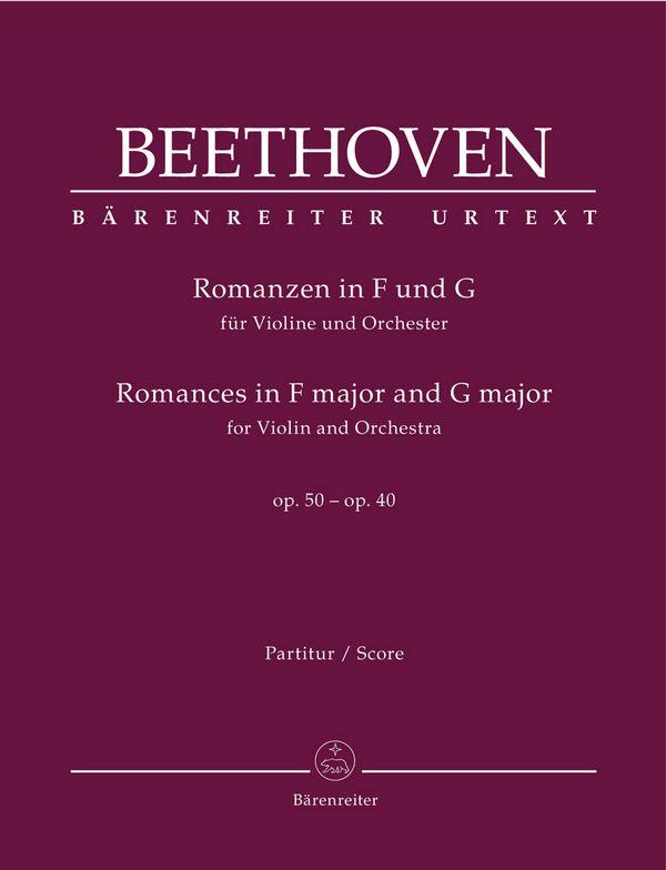 Romanzen op.50 und op.40: für Violine und Orchester