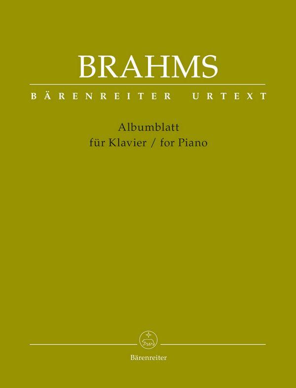 Brahms, Johannes - Albumblatt : für Klavier