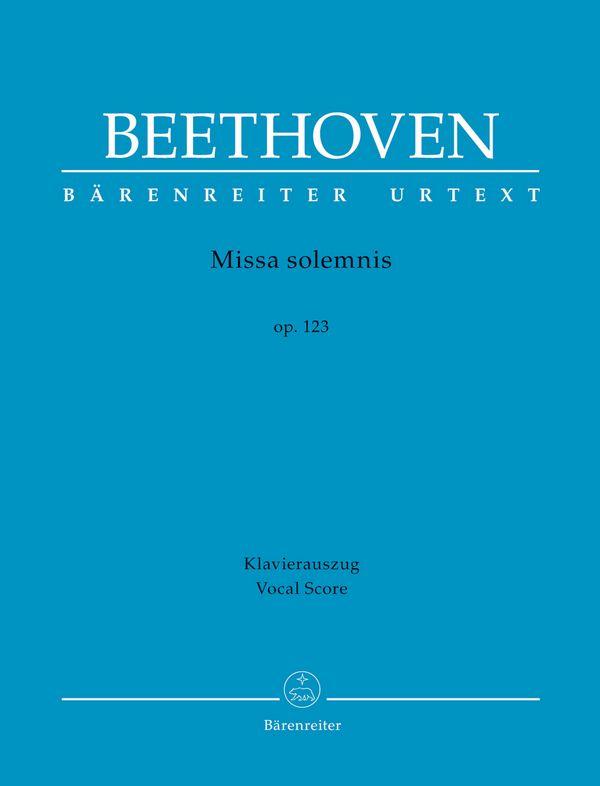 Missa solemnis op.123 : - Vollanzeige.
