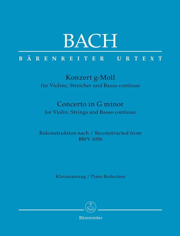 Konzert g-Moll BWV1056 für Violine, Streicher und Bc : - Vollanzeige.