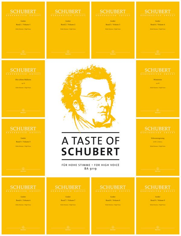 A Taste of Schubert: für Gesang (hoch) und Klavier