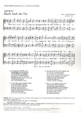 4 Weihnachtslieder: für Männerchor a cappella