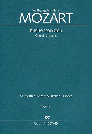 Sämtliche Kirchensonaten: für 2 Violinen und Orgel