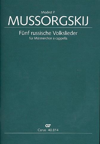 5 russische Volkslieder: für Männerchor a cappella