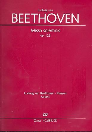 Missa solemnis D-Dur op.123: für Soli, gem Chor und Orchester