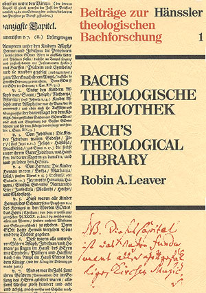 Bachs theologische Bibliothek: Eine kritische Bibliographie