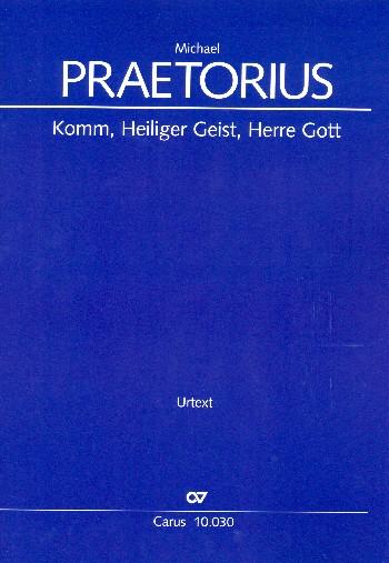 Komm heiliger Geist Herre Gott: für Kinderchor, gem Chor und Bc (Instrumente ad lib)