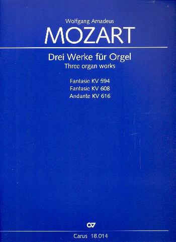 3 Werke für Flötenuhr : - Vollanzeige.