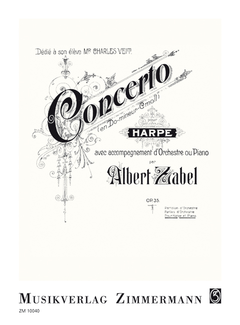 Konzert c-Moll opus.35 für Harfe und Orchester: für Harfe und Klavier