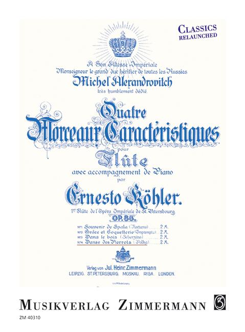 Köhler, Ernesto - Danse des pierrots op.88,4 : für Flöte