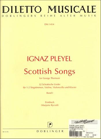 32 schottische Lieder Band 1 (Nr.1-14): für 1-2 Singstimmen, Violine, Violoncello und Klavier
