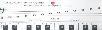 Klaviatur mit Herz 66 x 9,5 cm