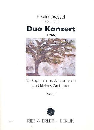 Duo-Konzert: für 2 Saxophone (SA) und Kammerorchester