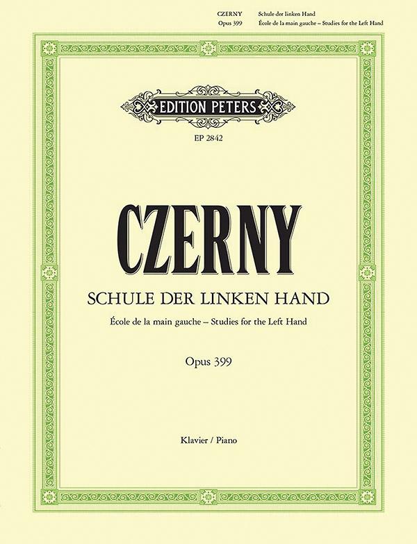 Schule der linken Hand op.399: für Klavier
