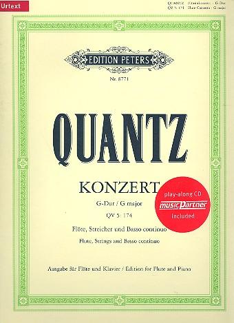 Konzert G-Dur QV5,174 (+CD): für Flöte Streicher und Bc: