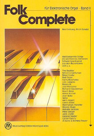 Folk complete Band 2: für E-Orgel