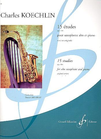 15 Etudes op.188: pour saxophone alto et piano