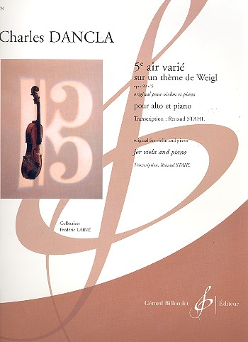 Air varie no.5 sur un thème de Weiglopus.89,5: pour alto et piano