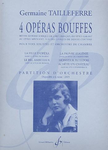 4 Opéras bouffes: pour voix solistes et orchestre de chambre