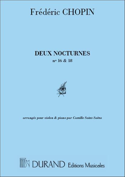 2 nocturnes (nos.16 et 18): pour violon et piano