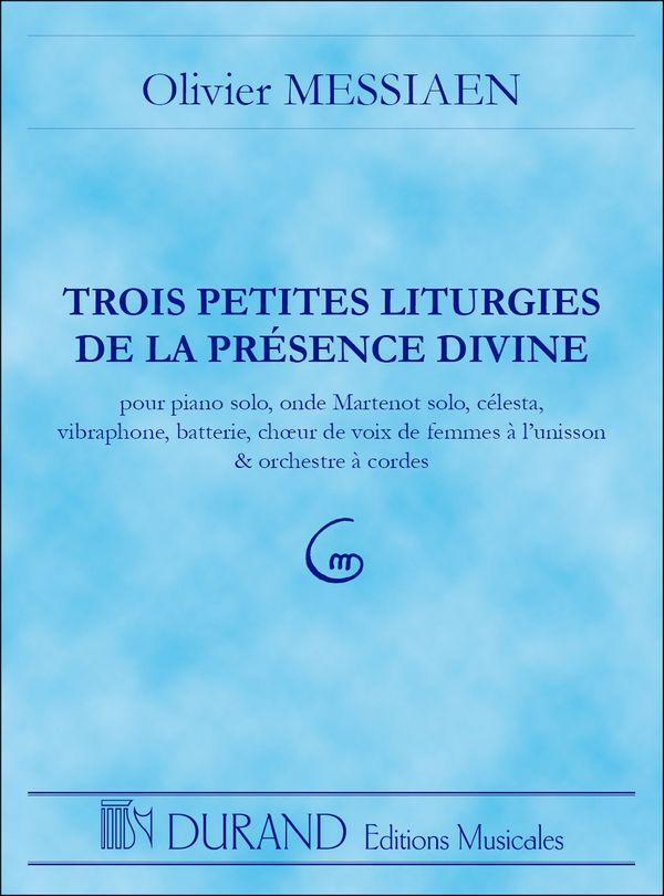 3 petites liturgies de la présence Divine: partition de poche