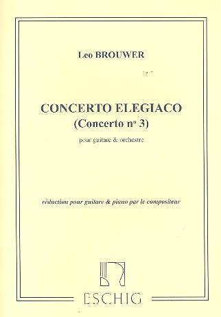 Concerto elegiaco: pour guitare et orchestre