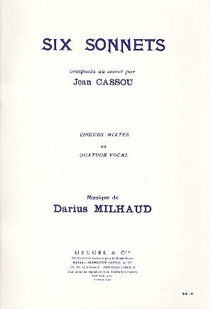 10 sonnets composés au secret opus.266: pour choeur mixte