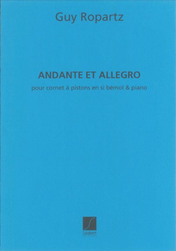 Andante et Allegro: pour cornet à pistons et piano