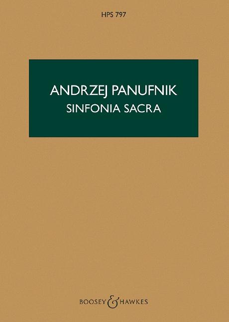 Sinfonia sacra: für Orchester Studienpartitur
