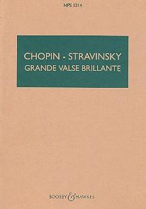 Grande valse brillante opus. 18: für Orchester Studienpartitur