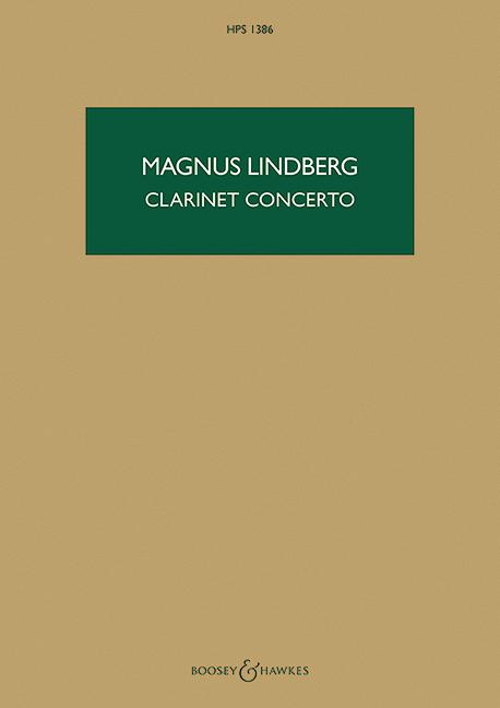 Konzert: für Klarinette und Orchester Studienpartitur