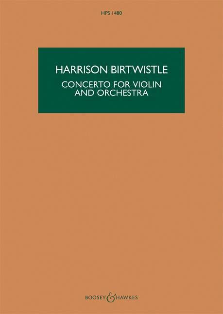 Konzert: für Violine und Orchester Studienpartitur