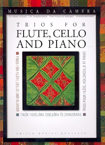 Trios: für Flöte, Violoncello und Klavier Stimmen