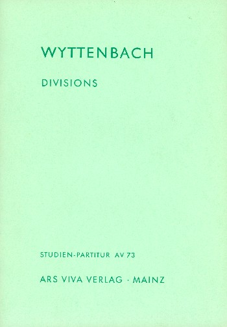Divisions: für Klavier und 9 Solo-Streicher